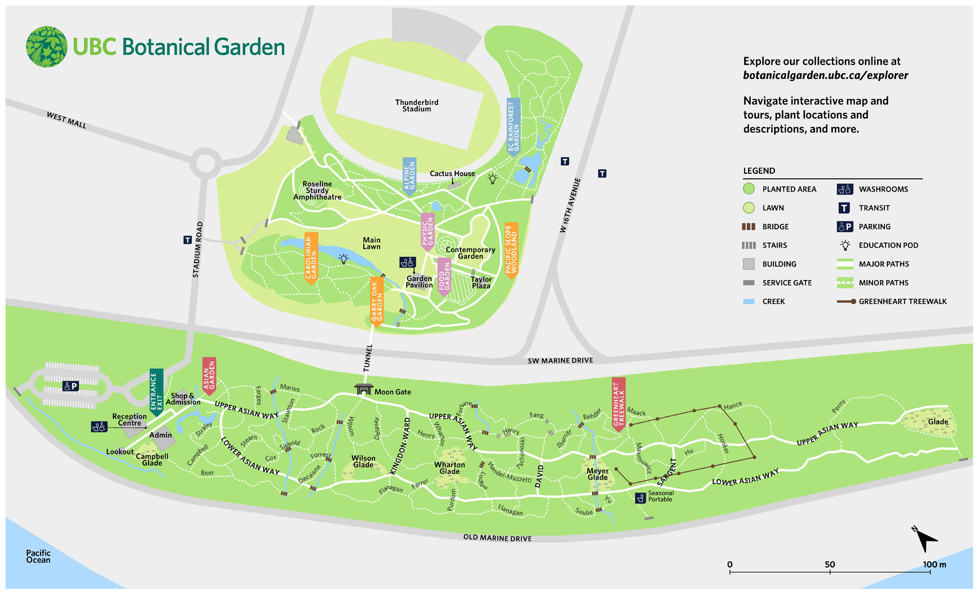Map of UBC Botanical Garden